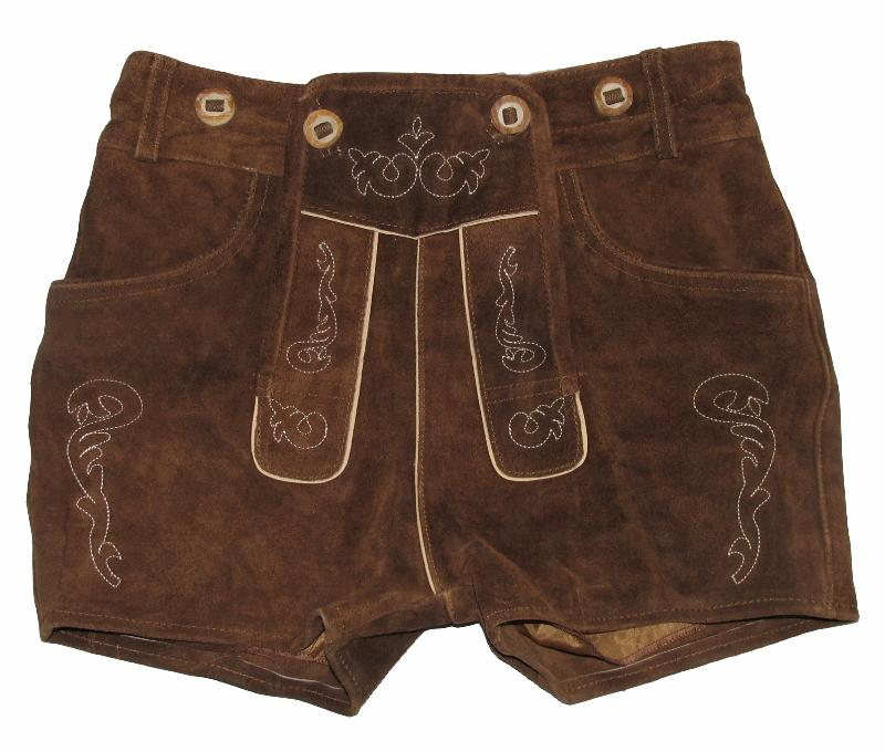 kurze FROHSINN Damen Trachten LEDERHOSE Trachtenhose Hose in braun Gr. 38   eBay