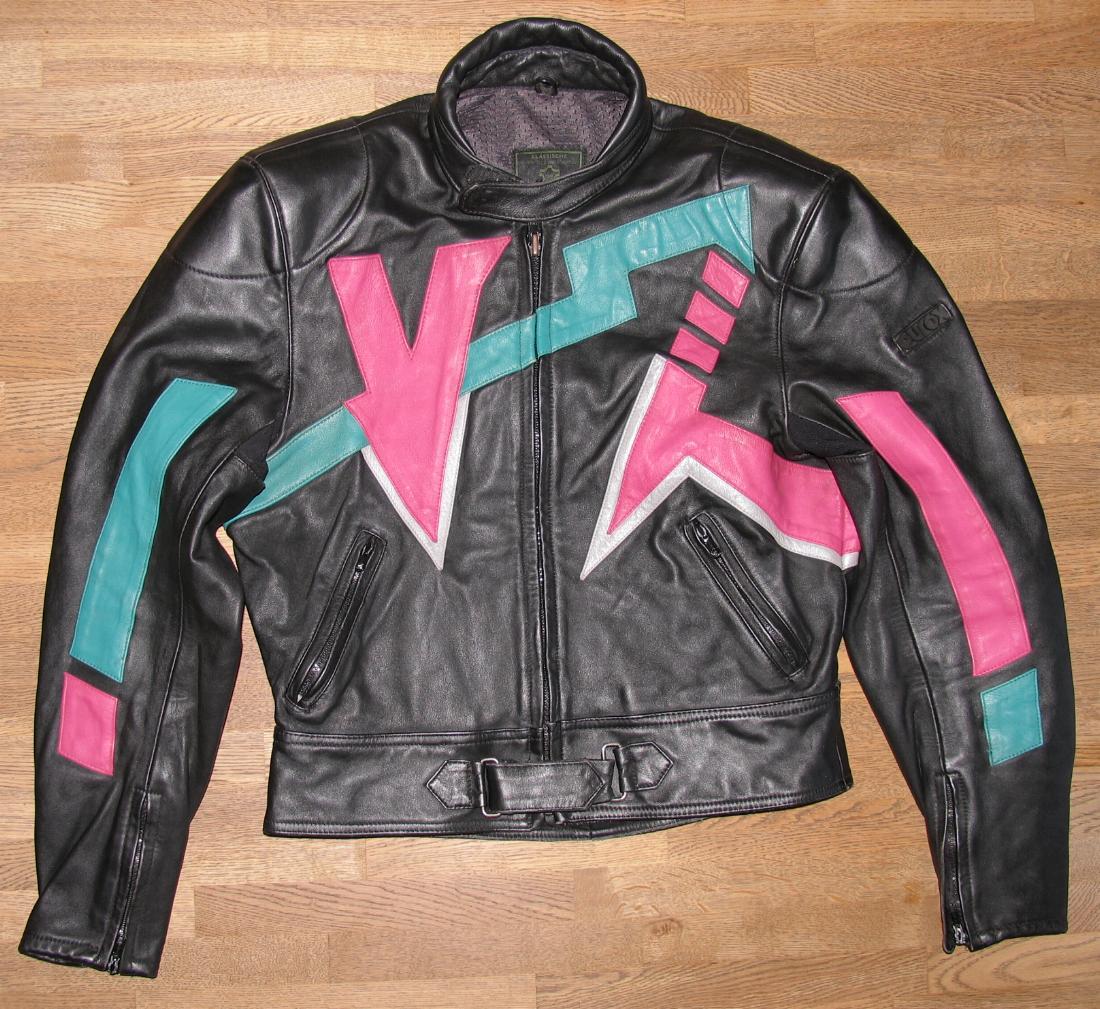 Details zu EUROX Herren Kombi Motorrad Lederjacke Jacke in schwarz bunt ca. Gr. 48